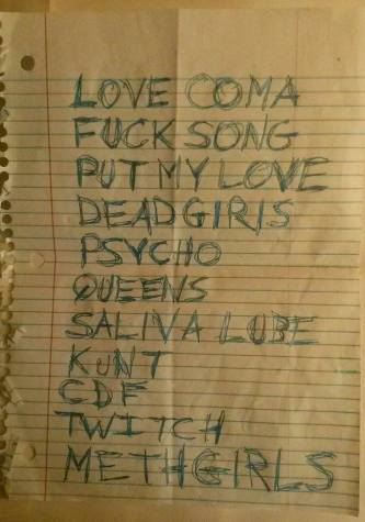 Only Flesh set list