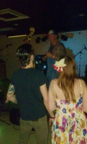 Zach of The Braddock Brothers & his lovely wife taking in the show photo:TP
